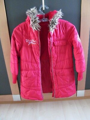 Hot + Spicy  Winterjacke, Jacke, Parka,Wattiert Gr. 134/140 in rot, mit Kapuze