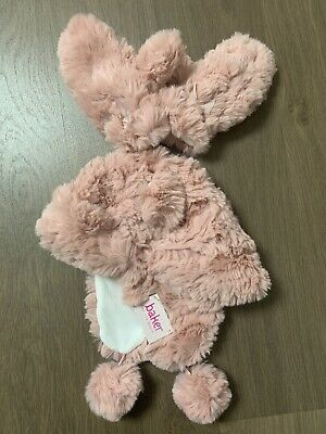 New Ted Baker Girls Pink Fur Winter Hat With Mittens Set Size 7-10 Years