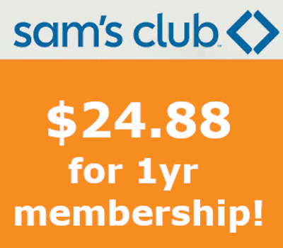 SAM'S CLUB MEMBERSHIP - ONLY $24.88! offer expires May 31, 2020