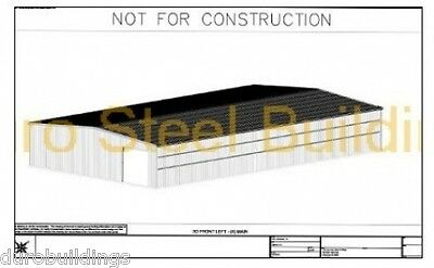 DuroBEAM Steel Rigid Frame Detail Custom Desigin Metal I-Beam Building Drawings
