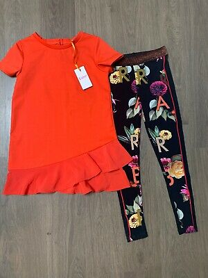 New Ted Baker Girls Outfit Set Top And Leggings Set Size 11-12 Years