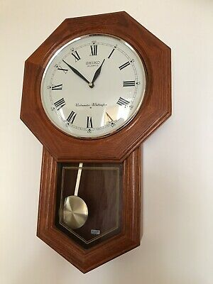 Seiko Westminster - Whittington Dual Chime Wall Hanging Clock with Pendulum