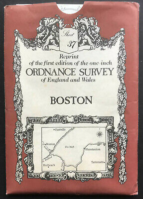 Reprint of 1st Edition Ordnance Survey Map of Boston Lincolnshire Sheet 37
