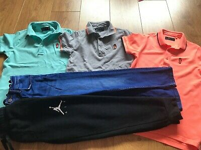 Boys trendy clothes bundle age 9 Next , Nike Air , joggers , jeans , polo shirt.