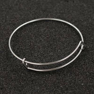 1pcs stainless steel bracelet metal elasticity coil spring bangle Useful q