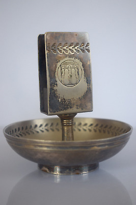 Gebr.Hepp silver plated ashtray with match holder, hotel Rheingold