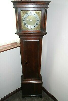30 hr  longcase clock by luke wise reading dated between 1691 to1735 single hand