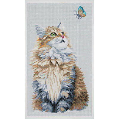 Diamanten Malerei Diamond Painting Kätzchen Katze Kitten Cat 21 x 39 cm
