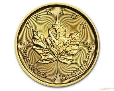 Canada 1/10 oz .9999 Gold Maple Leaf Elizabeth II 5 Dollars BU Sealed round coin