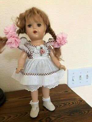 Vintage 1930 Doll 13 inch Doll All Composition Marked 13