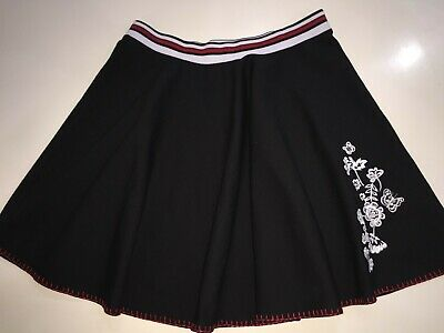 Girls black skirt with red & white trim by M&S age 13 - 14 years