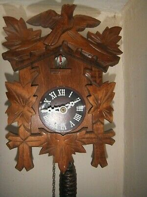 Vintage German Wooden Cuckoo Clock