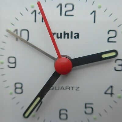 Red, Practical Ruhla Alarm Clock, Memory of Die GDR - Time, Good Function