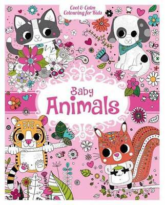 Cool & Calm Colouring for kids,Baby Animals A4 size