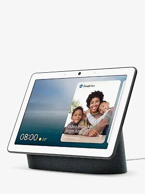 """Google Nest Home Hub Max Smart Home Voice Activated Speaker 10"""" Screen Charcoal"""