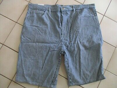 NWT Dickies Mens Size 44 Striped Work Shorts Regular Fit Double Tool Pockets