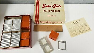 ROLLEI Burleigh Brooks Super Slide Glass Mounts For Rollei NEW OLD STOCK NOS 100