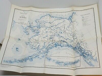 Vtg Map of Alaska Dept Of The Interior US Geological Survey 1931 Williams Heintz