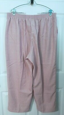 Alfred Dunner 20W Womens Plus Size Pull On Pink Dress Pants Slacks