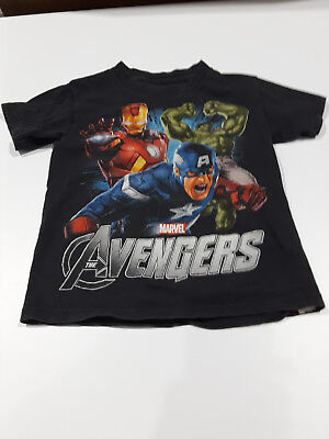 Marvel Kids Avengers Boy/'s Black Graphic T-Shirt Size MD NWT FREE SHIPPING