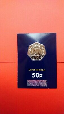 2020 Iguanodon Dinosaur 50p Coin CERTIFIED  Brilliant Uncirculated Condition.