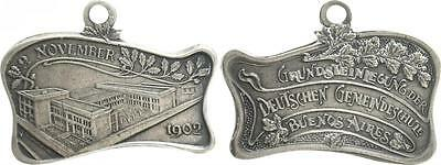 Silver Plated Copper Medal 1902 German Settlements in abroad Vf-Xf