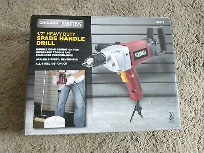 BRAND NEW/ 1/2in HEAVY DUTY spade handle drill chicago electric FREE SHIPPING
