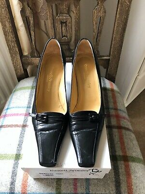 Russell & Bromley Black Court Shoe