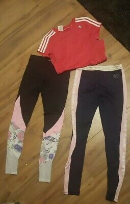 Girls 11-12-13 Sports bundle ADIDAS top two leggings