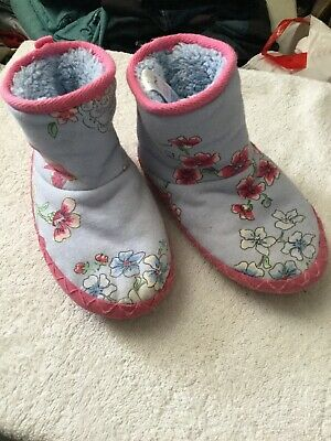 Girls Joules Padabout Slippers UK Size M (11,12,13 Kids) Sky Blue