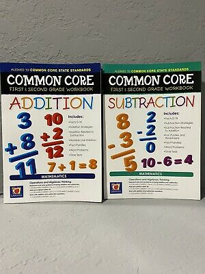 NEW 1st & 2nd Grade Lot of 2 Educational Workbooks: Addition & Subtraction