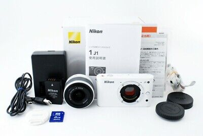 Nikon 1 J1 10.1MP Digital Camera White 1 Nikkor 10-30mm Zoom Lens  #565602