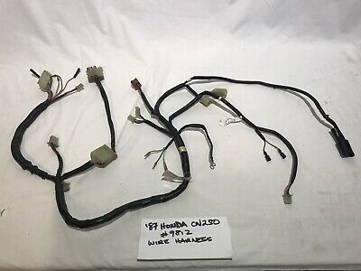 Wire Harness Electrical Components Honda CN250 HELIX Scooter #9812 Used