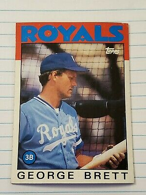 1986 Topps Mlb Baseball Card George Brett Red Box Bottom Kansas City Royals NM⚾️