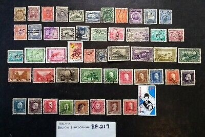(rp219) 50 WORLDWIDE - Used Stamps Collection lot 3c ea. START BOLIVIA, BOSNIA