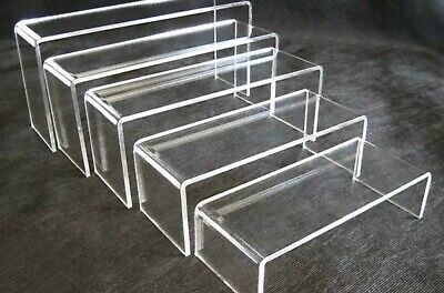 Display Risers | Acrylic Clear | 10 Stands | AUS Stock