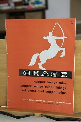 Chase Brass & Copper Co Waterbury CT Copper Tube fittings red brass pipe AD