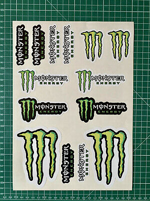 monster energy planche stickers x14 vinyls bike enduro mx autocollant cross