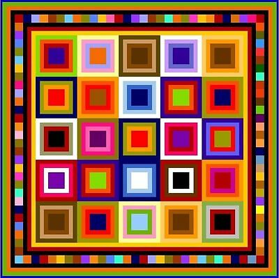 """QUIBBLING - 67"""" - Pre-cut Quilt Kit by Quilt-Addicts Double size"""