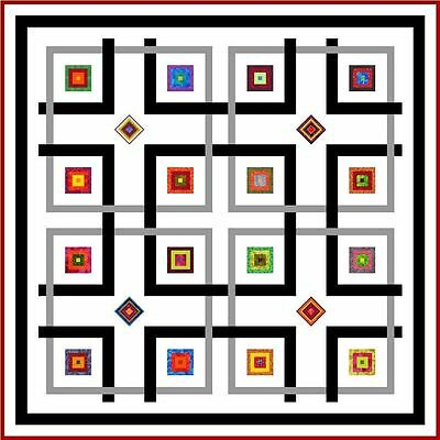 """YIPPY-I-O - 58"""" - Quilt-Addicts Precut Patchwork Quilt Kit Lap Size"""