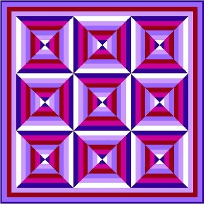 """HULLABALOO - 64"""" - Pre-cut Quilt Kit by Quilt-Addicts Double size"""