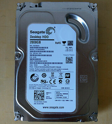 "Seagate BarraCuda Desktop ST2000DM001 2TB 7200RPM 65MB 3.5"" SATA III Hard Drive"