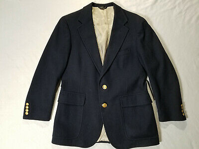 Polo University Club By Ralph Lauren Size 38(?) Blazer Made In USA 100% Wool