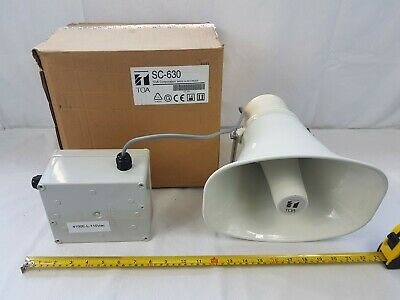 TOA SC-630 Horn Speaker with Sirens 4100E-L-110VAC HiBox - New