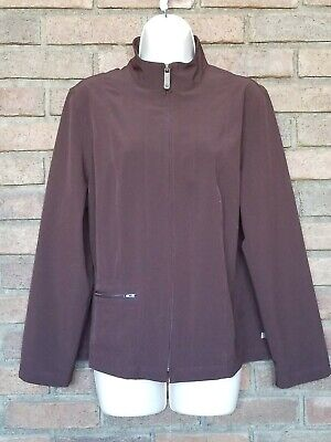 Zenergy by Chicos Brown lightweight full zip  jacket sz 2 FLAWLESS