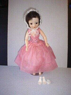 """Vintage Horsman Fashion Doll 18"""" BROWN HAIR AND EYES Jointed legs Pat w/stand"""