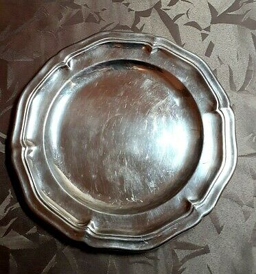 "Plat Metal Argente Christofle Estampille ""Gallia"""