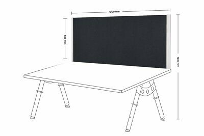Desk Mounted Privacy Screen White Frame 500mm (H) x 1200mm (W)
