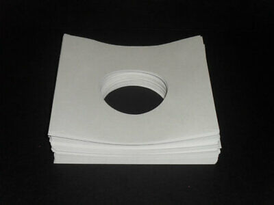 "Pack of 50  7"" Record Sleeves 45rpm White Paper Free Shipping"