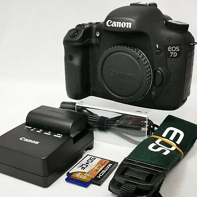 Canon EOS 7D 18.0MP Digital SLR Camera (Body Only) japan,About 3000 Clicks